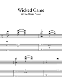 Sheet music, tabs for guitar. Wicked Game.