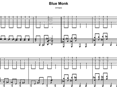 Blue Monk Blues - Monk Thelonious