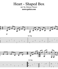 Sheet music, tabs for guitar. Heart-shaped Box .