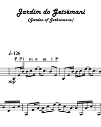 Sheet music, tabs for guitar. Garden of Gethsemane (Gardim do Getsêmani).
