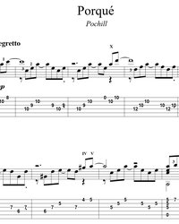 Sheet music, tabs for guitar. Porqué.