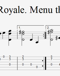 Sheet music, tabs for guitar. Clash Royale (Menu Theme).