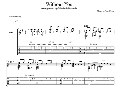 Without You - Evans Tom