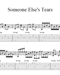 Sheet music, tabs for guitar. Someone Else's Tears.
