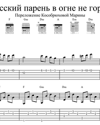 Sheet music, tabs for guitar. Russian Guy on Fire Doesn't Burn.