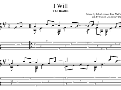 I Will - The Beatles