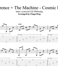 Sheet music, tabs for guitar. Cosmic Love.