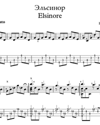 Sheet music, tabs for guitar. Elsinore.
