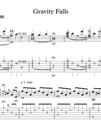 Sheet music, tabs for guitar. Gravity Falls (Ost).