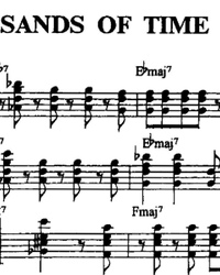 Sheet music, tabs for guitar. The Sands of Time.