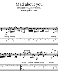 Sheet music, tabs for guitar. Mad About You.