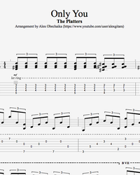 Sheet music, tabs for guitar. Only You.