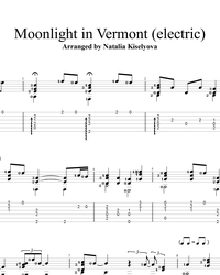 Ноты, табы для гитары. Moonlight in Vermont.