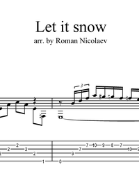 Noten, Tabulaturen für die Gitarre. Let It Snow!.