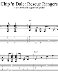 Sheet music, tabs for guitar. Chip 'n Dale: Rescue Rangers (full game OST).