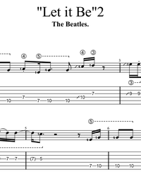 Sheet music, tabs for guitar. Let it Be.