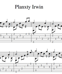 Sheet music, tabs for guitar. Planxty Irwin.