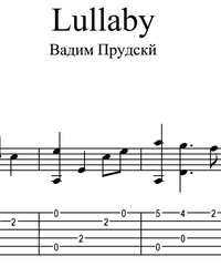 Sheet music, tabs for guitar. Lullaby (Wiegenlied).