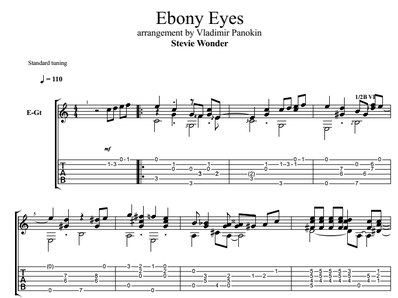 Ebony Eyes - Wonder Stevie