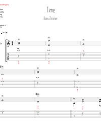 "Sheet music, tabs for guitar. Time (ost ""inception"") ."