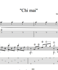 Sheet music, tabs for guitar. Chi Mai.