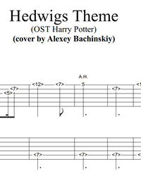 Sheet music, tabs for guitar. Hedwigs Theme (OST Harry Potter).