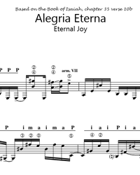 Sheet music, tabs for guitar. Eternal Joy (Alegria Eterna).