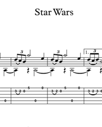Sheet music, tabs for guitar. Star Wars OST.