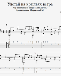 Sheet music, tabs for guitar. Fly Away On the Wings of the Wind (Prince Igor).