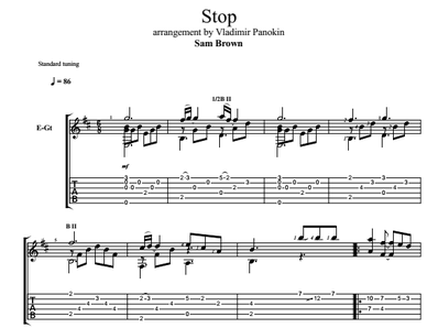Stop - Sam Brown