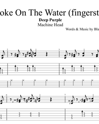 Sheet music, tabs for guitar. Smoke on the Water.