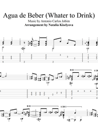 Sheet music, tabs for guitar. Water to Drink (Agua de Beber).