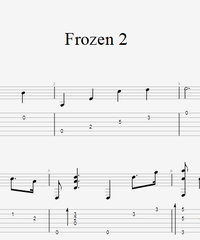 "Sheet music, tabs for guitar. All is Found from ""Frozen II""."