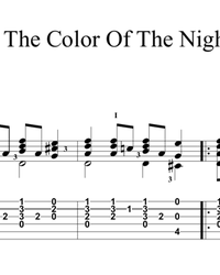 Sheet music, tabs for guitar. The Color Of The Night.